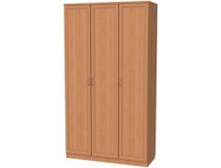Шкаф для белья с полками и штангой 106 ольха