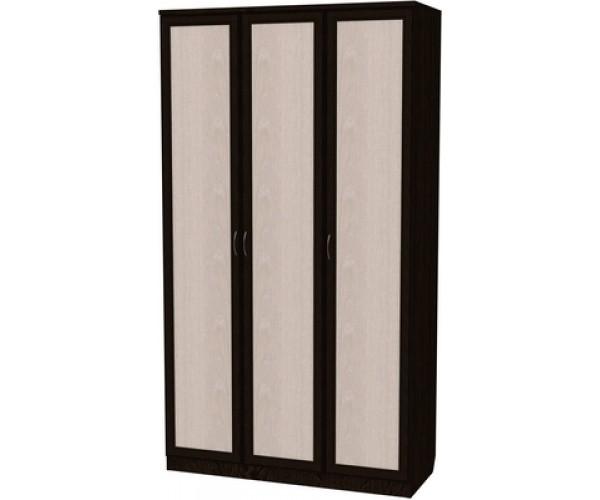 Шкаф для белья с полками и штангой 106 венге