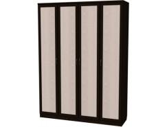 Шкаф для белья со штангой и полками 109 венге