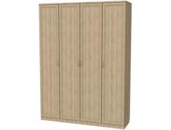 Шкаф для белья со штангой и полками 109 дуб сонома