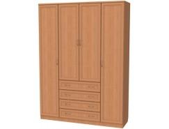 Шкаф для белья со штангами, полками и ящиками 110 ольха