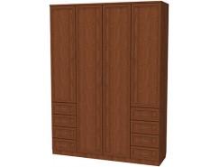 Шкаф для белья со штангой, полками и ящиками 112 дуб