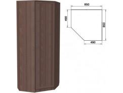 Шкаф угловой со штангой и полками 400 ясень шимо