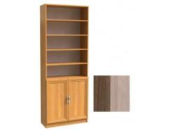 Шкаф для книг полуоткрытый ШК-2/3 шимо темный/шимо светлый