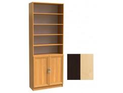 Шкаф для книг полуоткрытый ШК-2/3 венге молочный