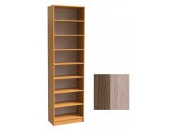 Шкаф для книг открытый ШК-2/4 шимо темный/шимо светлый