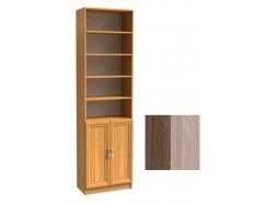 Шкаф для книг полуоткрытый ШК-2/4 шимо темный/шимо светлый