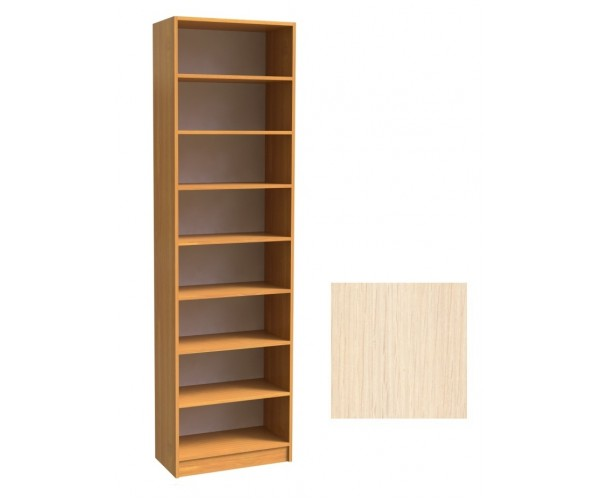 Шкаф для книг открытый ШК-2/4 дуб молочный