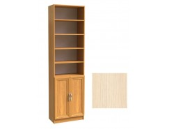 Шкаф для книг полуоткрытый ШК-2/4 дуб молочный
