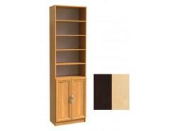 Шкаф для книг полуоткрытый ШК-2/4 венге молочный