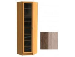 Шкаф для книг угловой ШК-1/6 шимо темный/шимо светлый