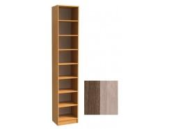Шкаф для книг открытый ШК-1/8 шимо темный/шимо светлый