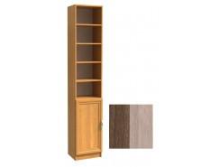 Шкаф для книг полуоткрытый ШК-1/8 шимо темный/шимо светлый