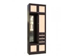 Шкаф с зеркалом Модуль №5 венге/молочный