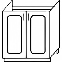 Кухня Агава М600 белый\лиственница светлая