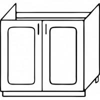 Кухня Агава М800 белый\лиственница темная
