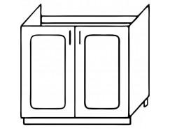 Кухня Агава М800 белый\лиственница светлая