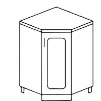 Кухня Агава НУ850 белый\лиственница темная