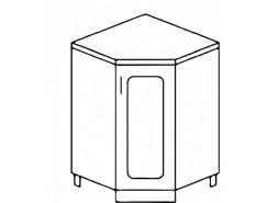 Кухня Агава НУ850 белый\лиственница светлая