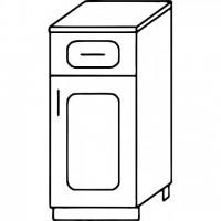 Кухня Агава Н3001Я белый\лиственница светлая