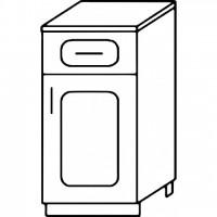 Кухня Агава Н4001Я белый\лиственница темная