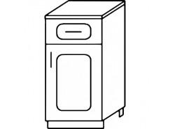 Кухня Агава Н4001Я белый\лиственница светлая