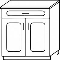 Кухня Агава Н6001Я белый\лиственница темная