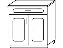 Кухня Агава Н6001Я белый\лиственница светлая