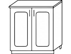 Кухня Агава Н600 белый\лиственница темная