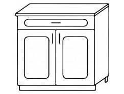 Кухня Агава Н8001Я белый\лиственница светлая