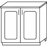 Кухня Агава Н800 белый\лиственница темная