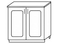 Кухня Агава Н800 белый\лиственница светлая