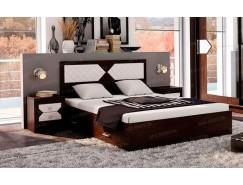 Кровать НИКОЛЬ 1,6 венге/лиственница светлая