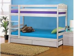 Кровать детс. 2-х яр. Массив с ящ. (Трансформер) 900*1900 выбеленная береза
