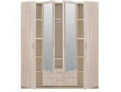5.15Z Эко Шкаф 4-дверный с зеркалом с 2-мя ящиками 1840*540*1990 шимо светлый-шимо светлый