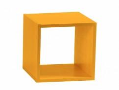 Полка настенная Кубик-1 оранж