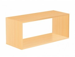 Полка настенная Кубик-2 оранж